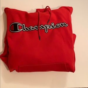 Men's Red Champion Hoodie